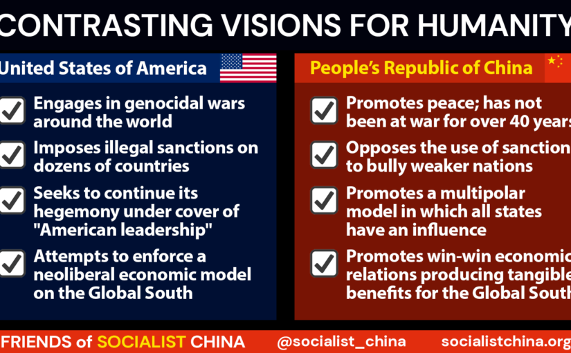China and the US: contrasting visions for humanity