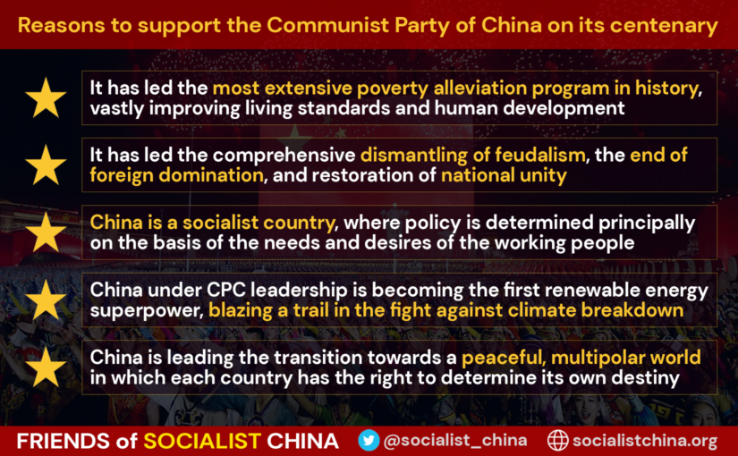 Reasons to support the Communist Party of China (CPC) on its 100th anniversary